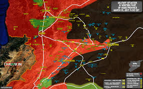 Syria Map Of Control by Situation In Area Of Palmyra On March 1 2017 Syria Map Update