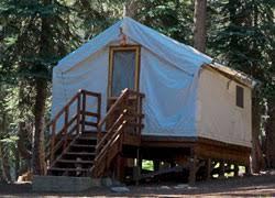 tent cabin cabin rentals lake alpine california