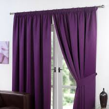 Lavender Blackout Curtains by Dreamscene Thermal Pencil Pleat Pair Of Blackout Curtains