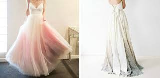 dip dye wedding dress dip dyed wedding dresses are the coolest new trend to hit