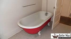 Porcelain Tub Restoration Tub Refinishing Augusta Bathtub Refinishing Maine Youtube