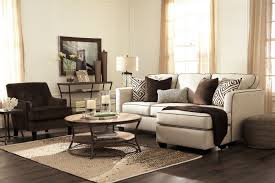 ashley carlinworth linen sofa chaise with accent chair