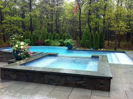negative edge infinity pool with overflow spa patricks pools