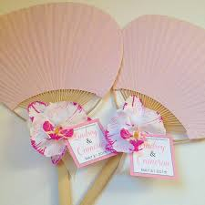 Wedding Program Hand Fans Paddle Fan With Orchid Rainbow Paddle Fan Beach Wedding Fan