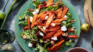 barefoot contessa arugula salad roasted carrot salad ina garten