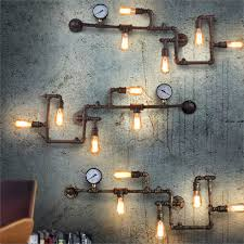 bar lighting decor vintage wall lamps ancient water pipe wall
