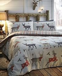 Double Christmas Duvet Christmas Bedding Warm U0026 Cosy Brushed Cotton Flannelette Duvet