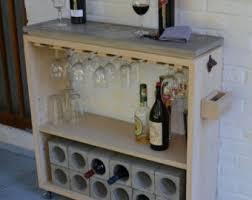 rolling bar cart wine rack kitchen bar reclaimed wood bar
