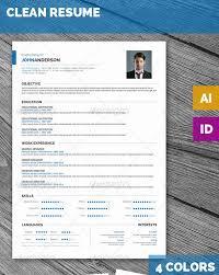 25 best simple photoshop u0026 indesign resume templates web