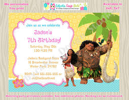moana invitation moana birthday invitation invite moana party