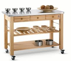 kitchen islands and trolleys eddingtons kitchen trolley the lambourn 3 drawer stainlee steel top