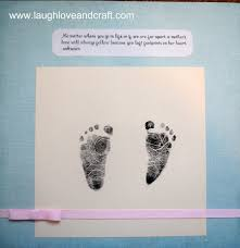laugh and craft scrapbook saturday baby footprints