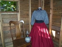 reenactment civil war womens pioneer colonial dress costume