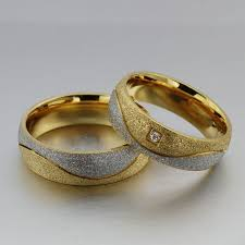 cheap wedding rings for him and 2018 fashion engagement ring for women men sand blasted