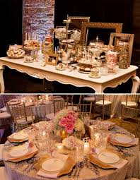 rose gold candy table rose and gold wedding decor wedding vintage candy bar gold