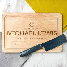 Cooking Board by Chefs Personalised Wooden Chopping Board Cooking Gift By Dust And