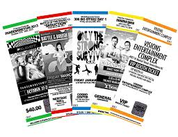custom stag tickets myzone printing