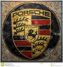 stuttgart porsche logo painting with the porsche logo by german artist ferencz olivier