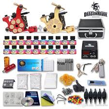 tattoo kit without machine new tattoo kit 2 machine gun 20 usaimmortal color ink tip power