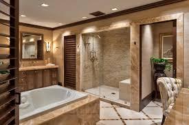 stone bathroom set double clear glass shower bath furnished walk