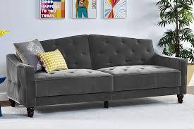 dhp furniture novogratz vintage tufted split back sofa sleeper