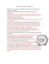 animal farm ch 4 questions with answers