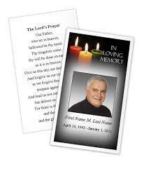 prayer cards for funerals glowing memories prayer card template funeral card