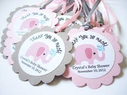 favor tags personalized pink elephant favor tags for baby girl shower party