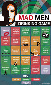 raise your glass to a u0027mad men u0027 drinking game