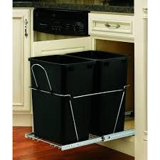 Kitchen Cabinet Trash Can Rev A Shelf 19 25 In H X 14 38 In W X 22 In D Double 35 Qt