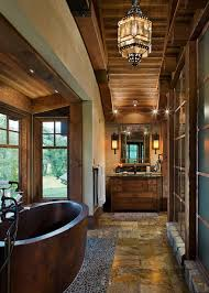 rustic bathroom design and warm rustic bathroom designs