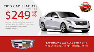 cadillac ats lease specials cadillac ats october 2015 lease special at lafontaine