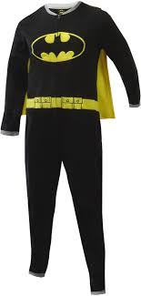 webundies batman onesie fleece pajama with cape