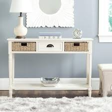 distressed white console table safavieh winifred white storage console table amh5730b the home depot
