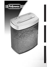 fellowes paper shredder p50cm user guide manualsonline com