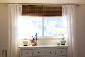 Plain White Curtains Astonishing Ikea Shades The Glass Windows With Bamboo And A Plain