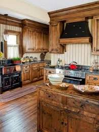 Hickory Wood Kitchen Cabinets Add A Warm Touch And Coziness By Having A Rustic Kitchen Design