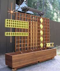 mid century modern marque privacy screen or trellis 95 00 a