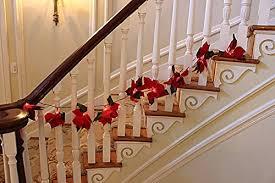 Christmas Banister Garland Christmas Staircase Garland Amazon Com
