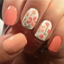 flower orange nail art nail arts 2014 pinterest orange nail