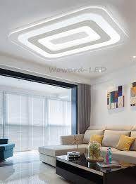 Beleuchtung Wohnzimmer Ebay Led Deckenlampe Deckenleuchte 16w Bis 143w Dimmbar Lampe