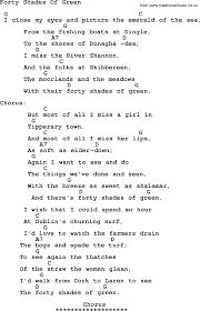 johnny cash song forty shades of green lyrics and chords