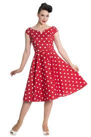 hell bunny red u0026 white polka dot 50s dress maggie ann vintage