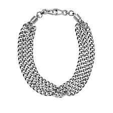 statement chain necklace images Dkny chambers silver tone l chain statement necklace gifts