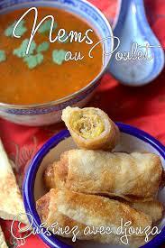 cuisiner des nems nems au poulet et menthe recettes faciles recettes rapides de djouza