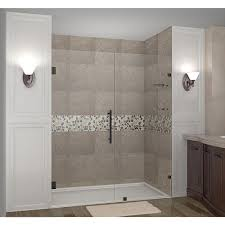 Oil Rubbed Bronze Bathroom Shelves by Aston Nautis Gs 71 In X 72 In Completely Frameless Hinged Shower