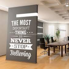 office wall art never stop believing wall sticker moonwallstickers com