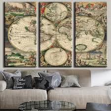Old World Map Aliexpress Com Buy 3 Pcs Set Retro Europe Old World Map Canvas
