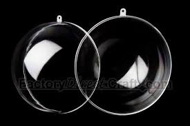 70mm clear acrylic fillable ornaments acrylic fillable