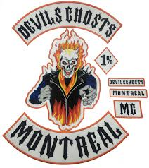 devils ghosts montral mc 1 embroidery iron patch custom sew badge